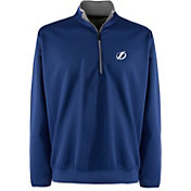 Antigua Men's Tampa Bay Lightning Leader Blue Quarter-Zip Pullover Jacket
