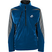 Antigua Men's Tampa Bay Lightning Discover Blue Half-Zip Pullover Jacket