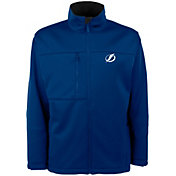 Antigua Men's Tampa Bay Lightning Blue Traverse Fleece Jacket
