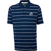 Antigua Men's Tampa Bay Lightning Deluxe Blue Polo