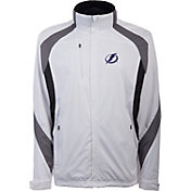 Antigua Men's Tampa Bay Lightning Tempest White Full-Zip Jacket