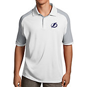 Antigua Men's Tampa Bay Lightning Century White Polo