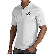Antigua Men's Tampa Bay Lightning Inspire White Polo