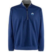 Antigua Men's Edmonton Oilers Leader Royal Quarter-Zip Pullover Jacket