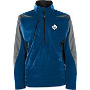 Antigua Men's Toronto Maple Leafs Discover Blue Half-Zip Pullover Jacket