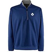 Antigua Men's Toronto Maple Leafs Leader Blue Quarter-Zip Pullover Jacket