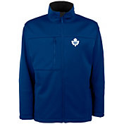Antigua Men's Toronto Maple Leafs Blue Traverse Fleece Jacket
