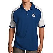 Antigua Men's Toronto Maple Leafs Royal/White Century Polo