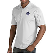 Antigua Men's Toronto Maple Leafs Inspire White Polo
