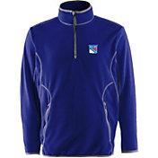 Antigua Men's New York Rangers Blue Quarter-Zip Ice Pullover