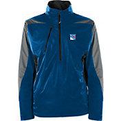 Antigua Men's New York Rangers Discover Blue Half-Zip Pullover Jacket