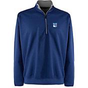 Antigua Men's New York Rangers Leader Blue Quarter-Zip Pullover Jacket