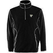 Antigua Men's Pittsburgh Penguins Black Quarter-Zip Ice Pullover