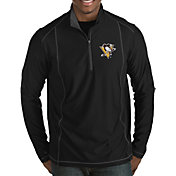Antigua Men's Pittsburgh Penguins Tempo Half-Zip Pullover Shirt