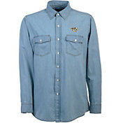 Antigua Men's Nashville Predators Chambray Button-Up Shirt