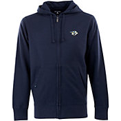 Antigua Men's Nashville Predators Navy Full-Zip Fleece Hoodie