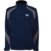 Antigua Men's Nashville Predators Tempest Navy Full-Zip Jacket