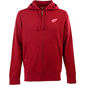 Antigua Men's Detroit Red Wings Red Full-Zip Fleece Hoodie