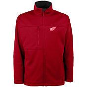 Antigua Men's Detroit Red Wings Red Traverse Fleece Jacket