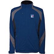 Antigua Men's New York Rangers Tempest Blue Full-Zip Jacket
