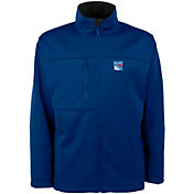 Antigua Men's New York Rangers Blue Traverse Fleece Jacket