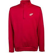 Antigua Men's Detroit Red Wings Delta Red Quarter-Zip Top