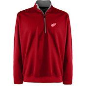 Antigua Men's Detroit Red Wings Leader Red Quarter-Zip Pullover Jacket