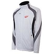 Antigua Men's Detroit Red Wings Tempest White Full-Zip Jacket