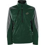 Antigua Men's Minnesota Wild Discover Green Half-Zip Pullover Jacket