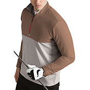 Antigua Men's Regime Woven Quarter-Zip Golf Pullover