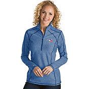 Antigua Women's Toronto Blue Jays Royal Tempo Quarter-Zip Pullover