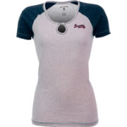 Antigua Women's Atlanta Braves White/Navy Crush T-Shirt
