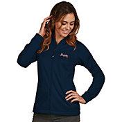 Antigua Women's Atlanta Braves Full-Zip Navy       Golf Jacket