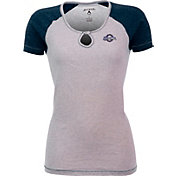 Antigua Women's Milwaukee Brewers White/Navy Crush T-Shirt