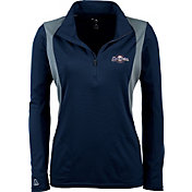 Antigua Women's Milwaukee Brewers Delta Navy Quarter-Zip Pullover