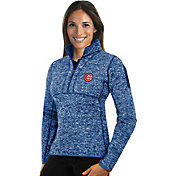 Antigua Women's Chicago Cubs Royal Fortune Half-Zip Pullover