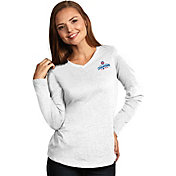 Antigua Women's 2016 World Series Champions Chicago Cubs White Flip Long Sleeve Shirt