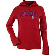 Antigua Women's St. Louis Cardinals Dark Red Signature Full-Zip Fleece Hoodie