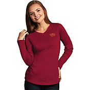 Antigua Women's Arizona Diamondbacks Flip Red Long Sleeve V-Neck Shirt
