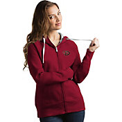 Antigua Women's Arizona Diamondbacks Red Victory Full-Zip Hoodie