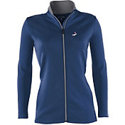 Antigua Women's Los Angeles Dodgers Leader Royal Full-Zip Jacket