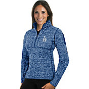 Antigua Women's Los Angeles Dodgers Royal Fortune Half-Zip Pullover