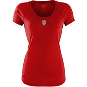 Antigua Women's San Francisco Giants Patriotic Logo Red Pep T-Shirt