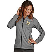 Antigua Women's Oakland Athletics Grey Golf Jacket