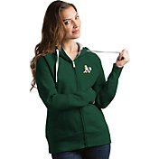 Antigua Women's Oakland Athletics Green Victory Full-Zip Hoodie