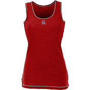 Antigua Women's Miami Marlins Patriotic Logo Red Sport Tank Top