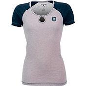 Antigua Women's Seattle Mariners White/Navy Crush T-Shirt