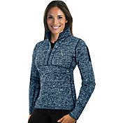 Antigua Women's Seattle Mariners Navy Fortune Half-Zip Pullover