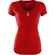 Antigua Women's Seattle Mariners Patriotic Logo Red Pep T-Shirt