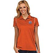 Antigua Women's New York Mets Icon Orange Performance Polo